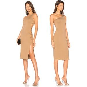 NWT LPA x REVOLVE Dress 571 in Hazelnut Tan Midi
